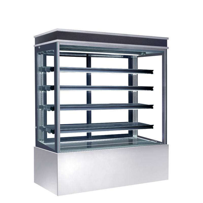 Auto Defrost Refrigerated Cake Display Cabinets 560L Capacity For Cafes,900mm Length Four Shelves Cake Fridge